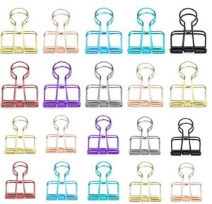 multicolored designer binder clips.