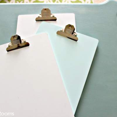 ORGANIZE WITH CLIPBOARDS
