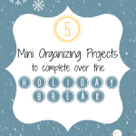 5 Mini-Organizing Projects To Complete Over the Holiday Break