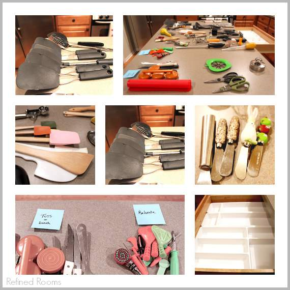 Organize your kitchen utensil drawer over the holiday break @ refinedroomsllc.com