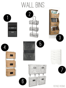 Hand-picked organizing products for creating a beautiful and functional household command center @ refinedroomsllc.com