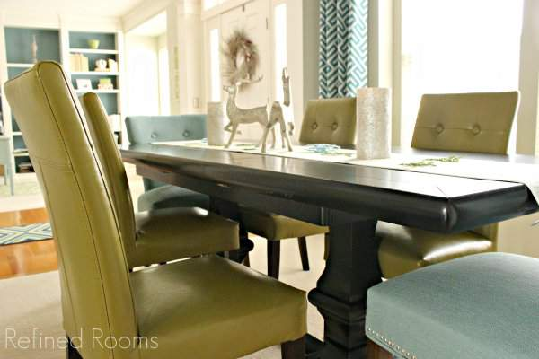 Dining Room Makeover Reveal @refinedroomsllc.com