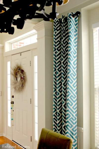 Keyes curtain panels in Dining Room Makeover Reveal @refinedroomsllc.com