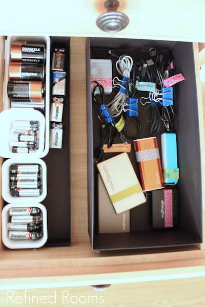 Organizing Gadget cords and accessories @Refinedroomsllc.com