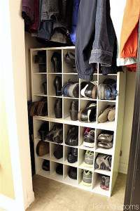 Use shoe cubbies in your drop zone to organize shoes @refinedroomsllc.com