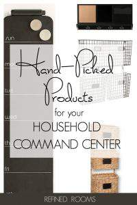 A command center is one of the foundations of an organized home. Create one that's not only functional, but super stylish with this collection of hand-picked products #commandcenter #homeorganization #paperorganizing #organizingproducts #storageproducts