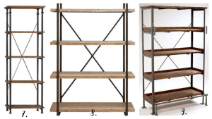 a roundup of modern industrial shelving options @ refinedroomsllc.com