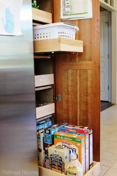 maximizing storage space in deep cabinets @ refinedroomsllc.com