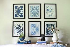 Decorate {creatively} with wallpaper by using wall paper as framed art