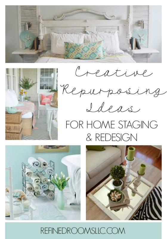 Check out these clever repurposing ideas for staging and redesigning your  home. Creative Repurposing Ideas for Home Staging and Redesign