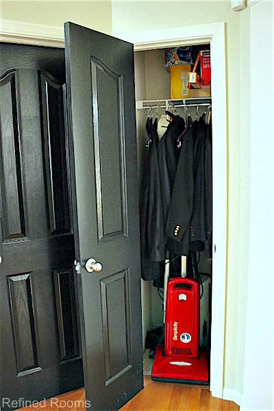 hall closet organization: decide on categories to be stored in each closet @ refinedroomsllc.com