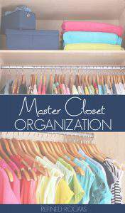 Learn home master closet organization tips as part of the organize and refine challenge | #mastercloset #homeorganization #organizeandrefinechallenge #refinedrooms #closetorganizing #closetorganization #closetstorage