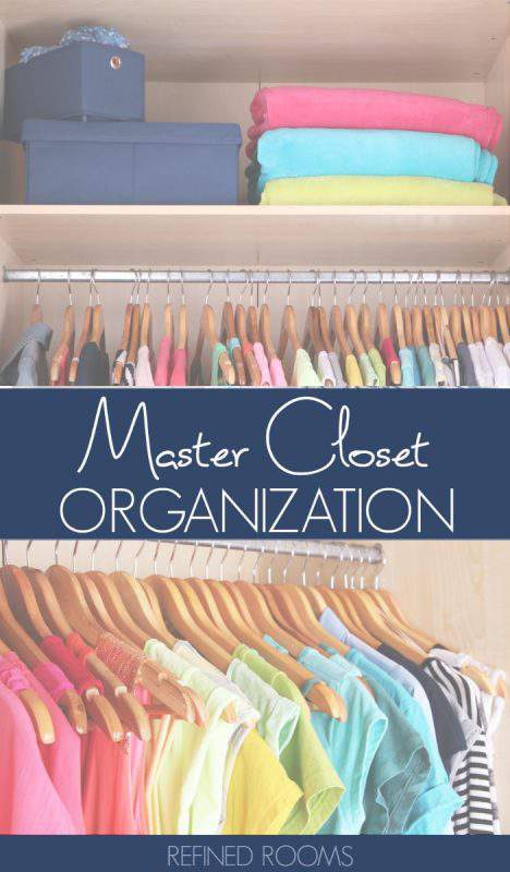Learn master closet organization tips as part of the organize and refine challenge | #mastercloset #homeorganization #organizeandrefinechallenge #refinedrooms #closetorganizing #closetorganization #closetstorage