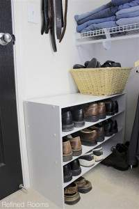Using a stackable shoe organizing in the master closet | Refined Rooms