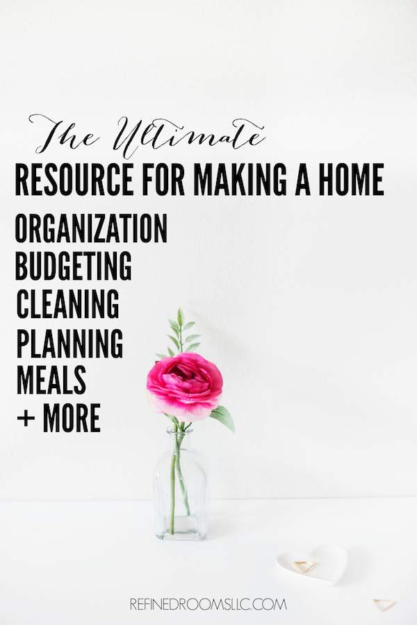 Read why the Ultimate Homemaking Bundle is THE TOP RESOURCE for helping you to: Get organized, create household systems that work, plan and manage your time, & simplify and declutter hour home | Refined Rooms blog