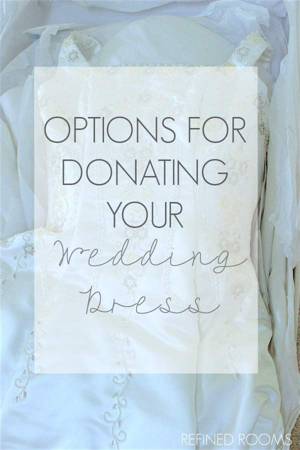 It can be difficult to part with your wedding dress, but knowing that that you are helpign a bride-to-be in need can make it much easier. See where this blogger chose to donate her dress via Refined Rooms