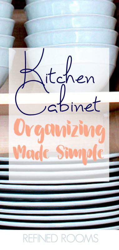 Got cluttered kitchen cabinets? Follow this 5-step kitchen cabinet organization process to transform your chaos to order | #kitchenorganizing #kitchenorganization #kitchencabinetorganizing #kitchencabinetorganization #kitchencupboards #organizeandrefinechallenge #RefinedRooms