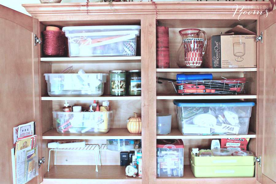 Follow this 5-step kitchen cabinet organization process via Refined Rooms