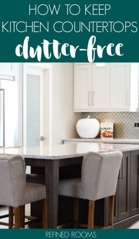 The first step in your kitchen organizing project is to tackle kitchen countertop organization.Your kitchen countertop is the MVP of household flat surfaces, so keeping them organized and clutter-free is essential! Get countertop organizing tips, ideas and inspiration here! | #kitchencounterorganization #kitchencountertoporganization #kitchencounterclutter #kitchencountertopclutter #kitchendecluttering #kitchenorganization #kitchenorganizing #refinedrooms #organizeandrefinechallenge