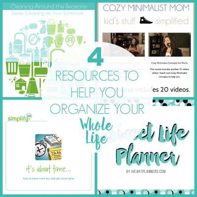 ORGANIZE YOUR LIFE WITH THESE 4 AWESOME RESOURCES