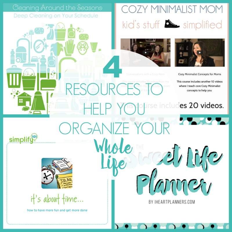 Are you looking for valuable resources to help you organize your life, plan, manage your time and establish a cleaning routine? These 4 valuable resources will help you to organize your whole life | Refined Rooms