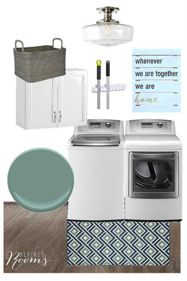It's time to reveal the plan for our upcoming laundry room refresh at Refined Rooms!