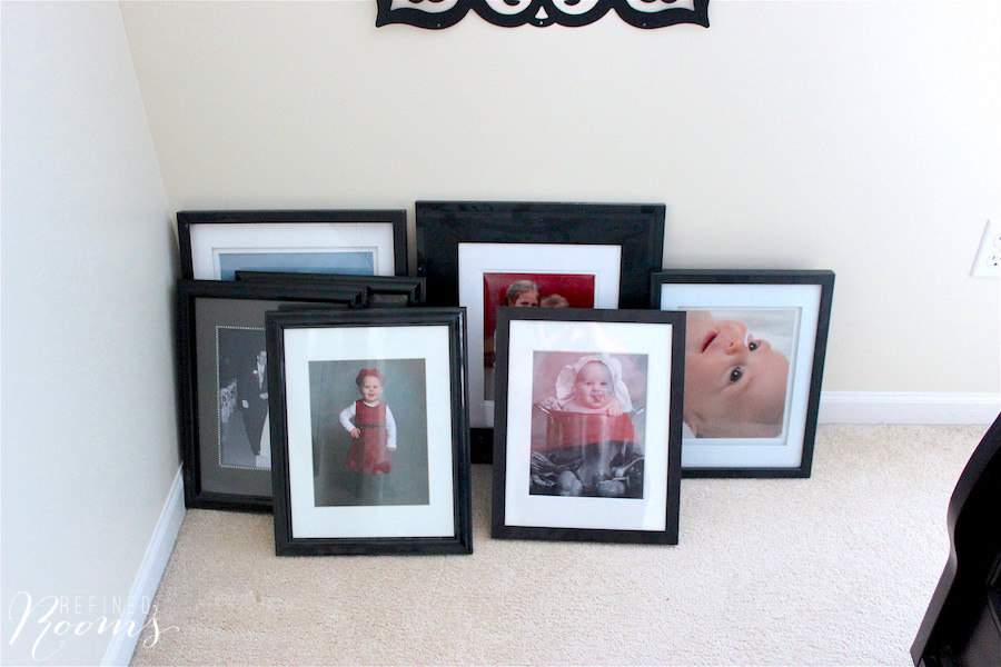 Print Photo Organization prep work framed prints