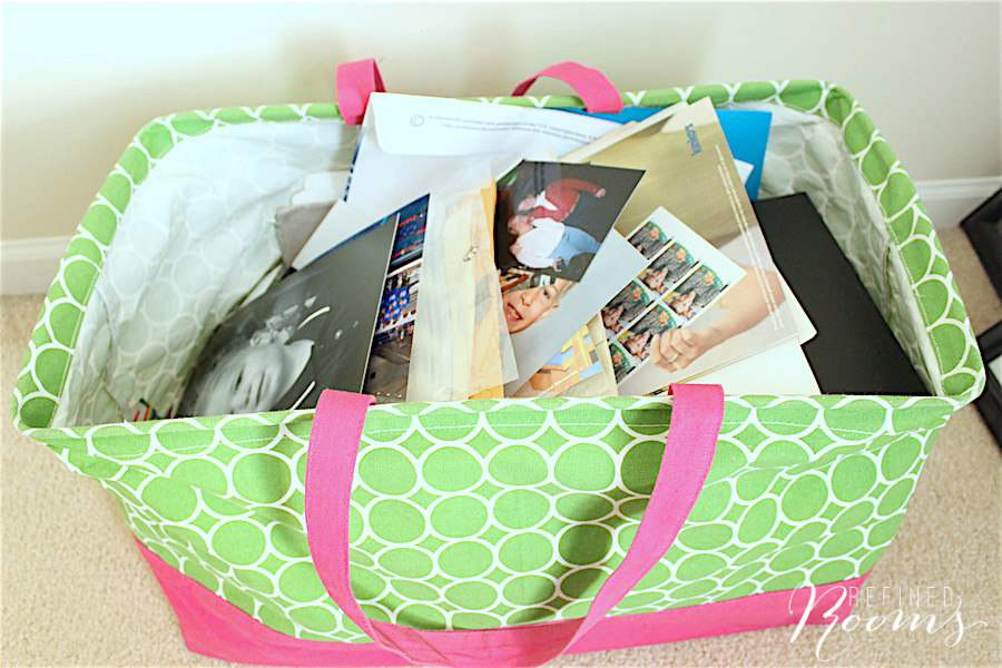Complete your print photo organization prep work as part of the Organize and Refine Your Home Challenge via Refined rooms