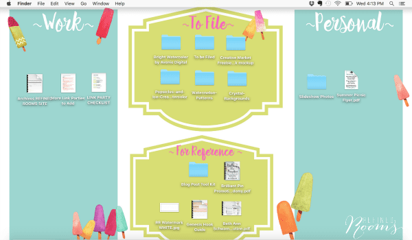 Organize your computer with these cute summer-themed desktop wallpapers