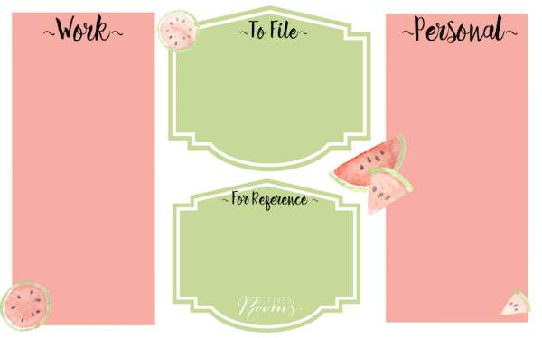 Summer Desktop Organizer Watermelon Blog image WM