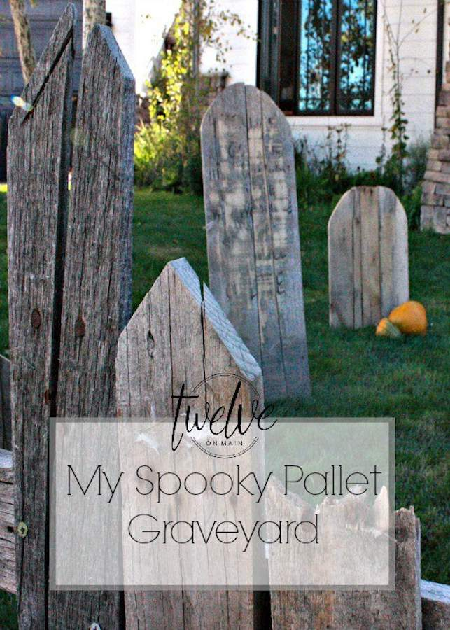 This pallet graveyard is just one of 20 DIY Halloween Decor Ideas guaranteed to inspire you