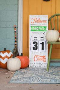 This Halloween countdown board is just one of 20 DIY Halloween Decor Ideas guaranteed to inspire you