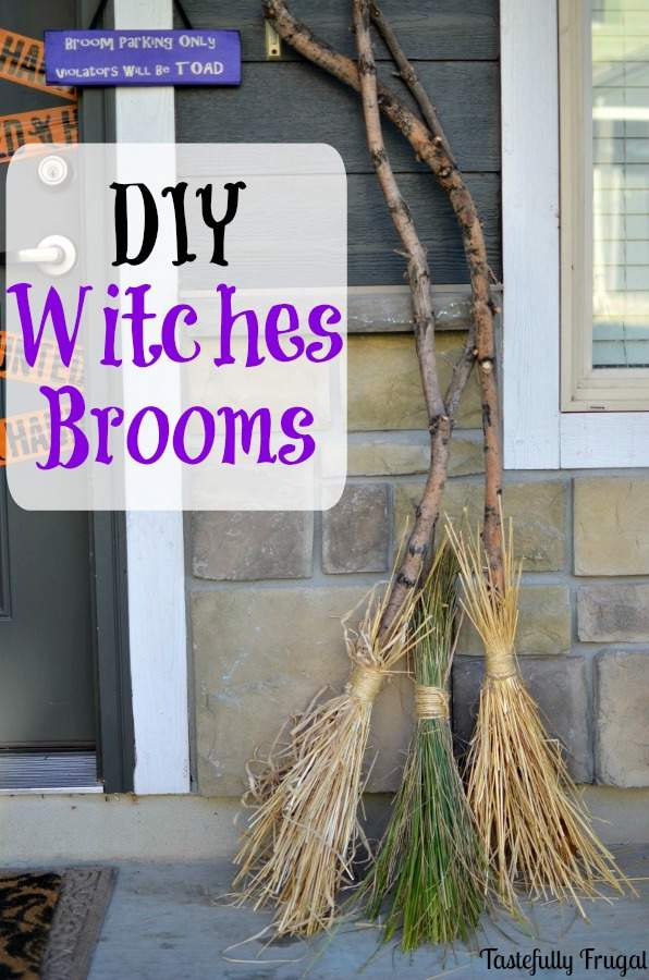 These witches brooms are just one of 20 DIY Halloween Decor Ideas guaranteed to inspire you