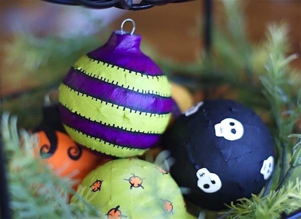 hese Modpodge Halloween ornaments are just one of 20 DIY Halloween Decor Ideas guaranteed to inspire you