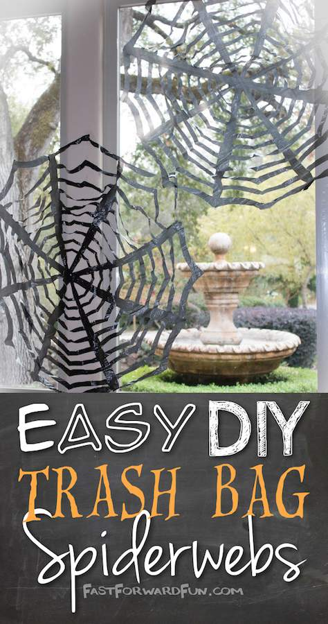 These trash bag spider webs are just one of 20 DIY Halloween Decor Ideas guaranteed to inspire you