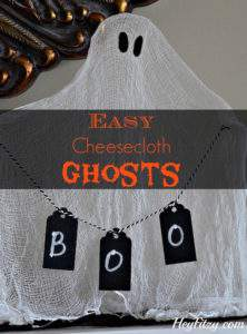 These cheesecloth ghosts are just one of 20 DIY Halloween Decor Ideas guaranteed to inspire you