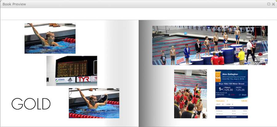 Curious how to make a digital photo book? Use Mixbook's Preview function to view your page layout