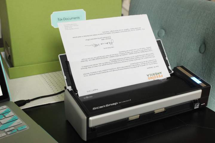 I use a Fujitzu 1300I scanner to digitize paper in my house. Learn the basics involved with going paperless as part of the Organize and Refine Your Home Challenge