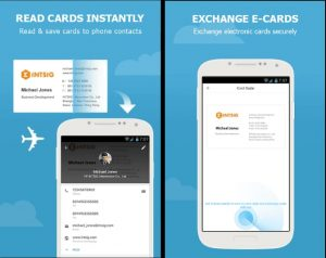 ad for CamCard business card scanner app.