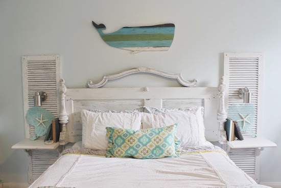 REPURPOSING A DOOR TO CREATE A HEADBOARD