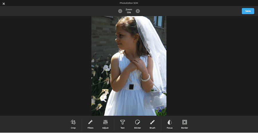 Forever Photo storage has built-in photo editing tools