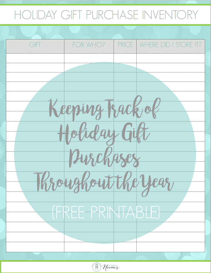 KEEPING TRACK OF HOLIDAY GIFT PURCHASES THROUGHOUT THE YEAR {FREE PRINTABLE}