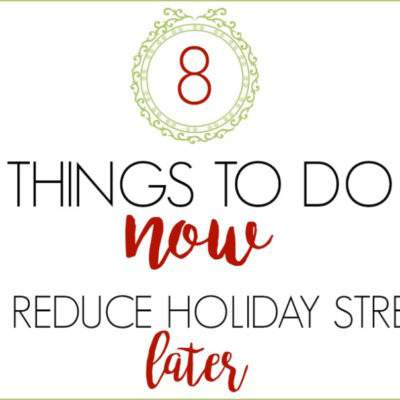 8 TIPS FOR REDUCING HOLIDAY STRESS