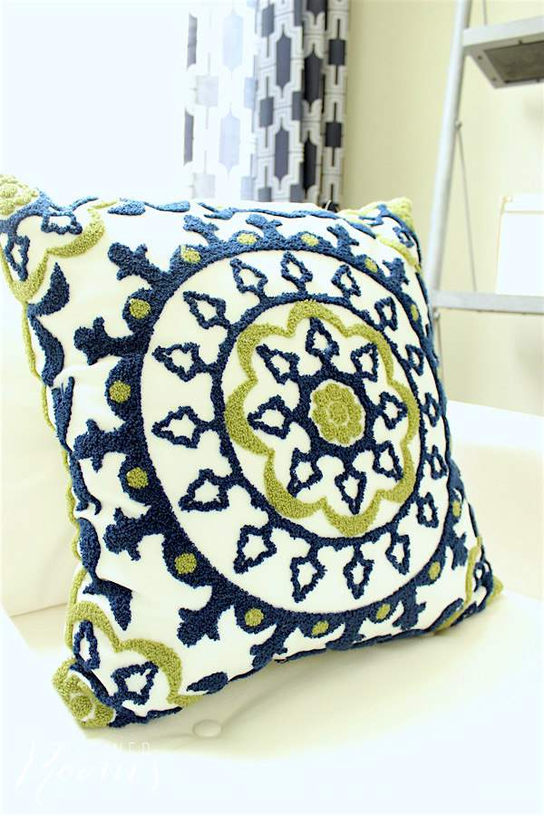 Another pretty pillow that was purchased as part of our great room makeover