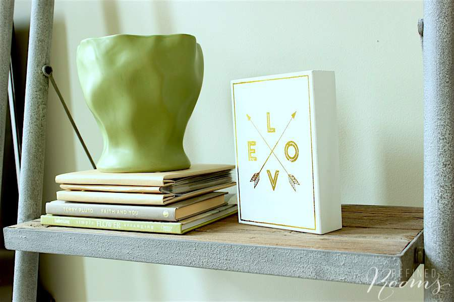 These gorgeous leaner shelves are my favorite addition in our great room makeover