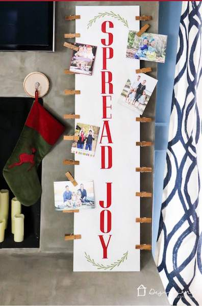 Check out this cool round up of holiday card display ideas (including this plywood display board) at Refined Rooms!