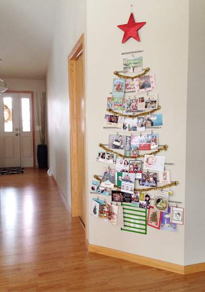 Check out this cool round up of holiday card display ideas (including this Washi Tape Tree) at Refined Rooms!