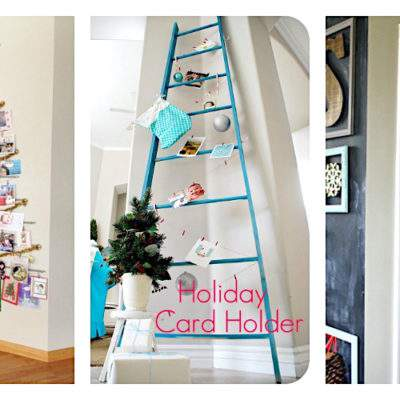 CUTE & CLEVER DIY HOLIDAY CARD DISPLAY IDEAS