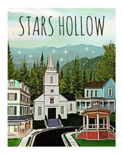 This Stars Hollow art print is a MUST HAVE for hard core Gilmore Girls fans! It made it into The Ultimate Gilmore Girls Gift Guide!