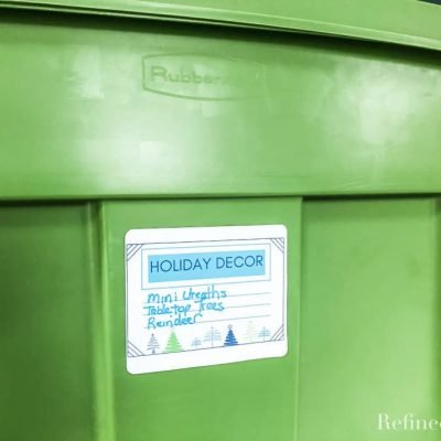 Organizing Holiday Decor {+ Printable Storage Bin Labels}
